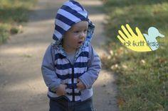 Hootley Hoodie Children's Jacket PDF pattern by DuckButtDesigns