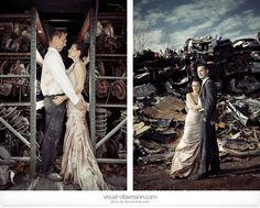 """I want to """"trash the dress"""" in the junk yard.  So bad.  <3 <3  All photo credits to Monika Krzysztof!"""