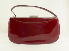 1950s/1960s Deep Red Patent Leather Purse by SweetTrashVintage, $95.00
