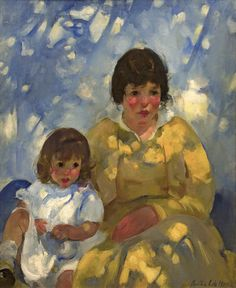 """Mother and Child,"" Martha Walter, oil on canvas, 40 x 32"", Guarisco Gallery."