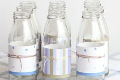 botellitas tipo milk, pare centro de mesa
