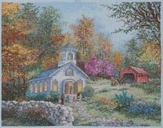 Cross Stitch Kit  Heirloom Worship in the by CrossStitchKitsOnly, $30.00