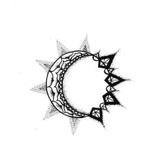 Resultado de imagen de small moon and sun tattoo