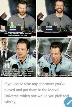 The Great Sebastian Stan Mad Hatter, Glass, Chris Evans Funny Interview