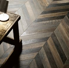 Wood Tile Just arrived, our Faux Bois Chestnut Chevron Porcelain Tile - all the beauty and. Herringbone Tile Floors, Faux Wood Tiles, Wood Tile Floors, Chevron Tile, Chevron Floor, Chevron Patterns, Into The Woods, Tile Countertops, Chevrons