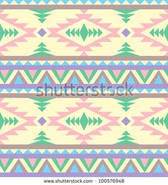 Seamless Indian Pattern In Pastel Tints Stock Vector 100576948 : Shutterstock
