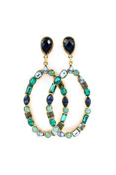 Paige Earrings in Alluring Blues