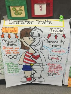 Fundamental Addition and Subtraction Activities for Kids - Character traits anc Applying Charts along with Topographical Roadmaps Reading Lessons, Reading Strategies, Teaching Reading, Guided Reading, Kindergarten Writing, Kindergarten Anchor Charts, Reading Projects, Writing Lessons, Close Reading