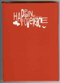 Coca-Cola Happiness, Love, Peace Red Journal