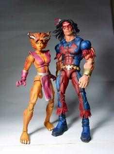 Marvel Comics Art, Marvel X, Disney Marvel, Comic Room, Figurines D'action, The New Mutants, Marvel Legends Series, Psylocke, Custom Action Figures
