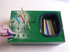 Caja de palitos para ayudar a contar