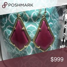Kendra Scott Alex Earrings in Burgundy Illusion I got these in my Rocksbox! Use code adriennebff59 for a free month. I'm still enjoying these, but will lower the price when I'm ready to part with them. Like this listing so you don't miss out. Kendra Scott Jewelry Earrings