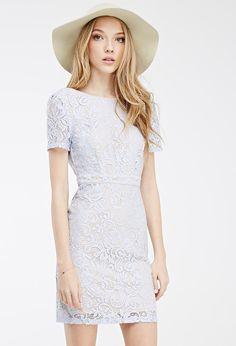 Floral Lace Scoop-Back Dress | Forever 21 - 2000100130