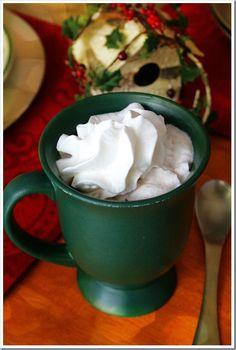 Peppermint White Hot Chocolate  | Doughmesstic
