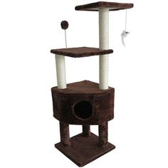 "FurHaven 46.5"" Tiger Tough Playground Cat Tree"