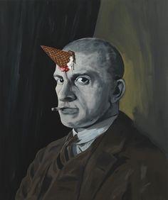 Djordje Ozbolt Mayakovsky's nightmare, 2013 Acrylic on icon board