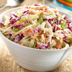 Oooh... I just made this. Coleslaw I actually enjoy!!! I added just a splash of vinegar and some pepper to this!
