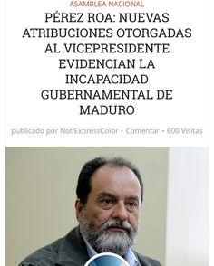 Perez Roa dice que la falta de capacidad gubernamental se evidencia en sus acciones