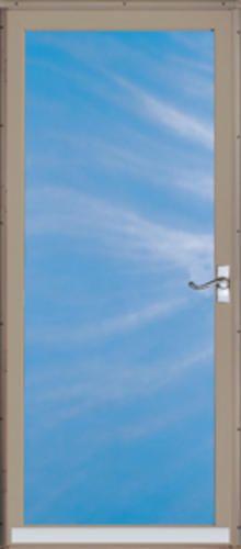 """ChamberDoor Regal Deluxe 36"""" x 80"""" Nickel Hardware Aluminum Fullview Storm & Screen Door; Reversible Swing at Menards"""