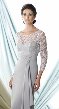 Montage 114920 Long Sleeve Mother of the Bride Dress - French Novelty $500