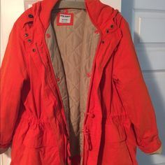 Old Navy cotton blend parka. Orange  XL Old Navy cotton blend parka. Perfect for fall. Warm and comfy. Orange. NWOT XL Old Navy Jackets & Coats
