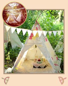 I want one of these homemade teepees for the backyard this summer!