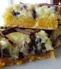 Chocolate Chip (Ooey) Gooey Butter Cake - Not only is this dessert a hit everytime, but it's incredibly easy to make! It's a simple recipe t...