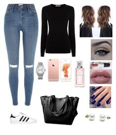 """""""Untitled #238"""" by pinialepini on Polyvore featuring River Island, Oasis, adidas Originals, xO Design, Lottie, Calvin Klein, Christian Dior, women's clothing, women and female"""