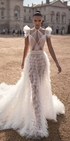 Wedding Dress wedding dresses fall 2019 sexy ruffled skirt with cap sleeves lior charchy - Fall 2019 Bridal Fashion Week is finally open. Many famous designers showcased their bridal collection. We want to show the best wedding dresses fall Wedding Dress Trends, Fall Wedding Dresses, Bridal Dresses, Prom Dresses, Shear Wedding Dress, Wedding Ideas, Lace Wedding, Couture Wedding Gowns, Wedding Hats