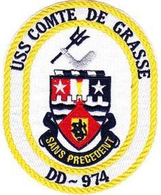 DD-974 USS COMTE DE GRASSE PATCH