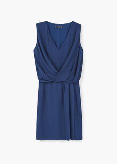 Draped wrap dress | MANGO
