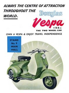Iposters Vespa Scooter Advert Print Magnetic Memo Board Silver Framed - 41 X 31 Cms (approx 16 X 12 Inches) Vespa 125cc, Piaggio Vespa, Lambretta Scooter, Vespa Scooters, Moto Scooter, Scooter Girl, Vintage Advertisements, Vintage Ads, Vintage Vespa