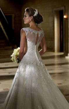 Elegant, beautiful wedding dress