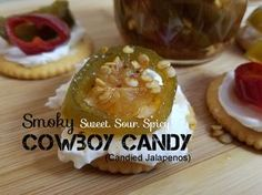 Sweet. Sour. Spicy. Smoky. Cowboy Candy is eaten straight out of the jar, on crackers or bagels with cream cheese, on salads, on meat dishes...basically, you find any excuse to eat these! Your family and friends are seriously going to love you for making this. But, be prepared for CONSTANT requests to make these!