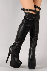 Buckle Strap Stiletto Thigh High Boot. If only they were a little bit shorter
