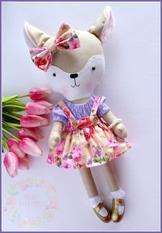 Dress Up Fawn by Precious Little Poppets