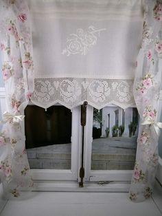 Charmant *Diese Romantische Gardine Aus Reinem, Zart Gewebtem Leinengewebe Sorgt Für  Ein Angenehmes Licht Und
