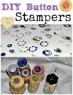 Make button stamps for kids to use as a fun art tool and to decorate seasonal cards
