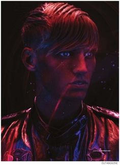Alexander Johansson Dons Futuristic Fashions for Out September 2014 Issue image Alexander Johansson Out Magazine Futuristic Fashions 006 800x1104