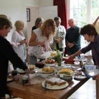 CCC Loire Valley May Meeting - it was all about the fruit!  Members choosing from a fabulous selection of cakes!