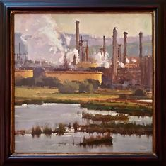 The Edge, Randal Sexton, 30x30 Urban Landscape, Landscape Art, Landscape Paintings, Seascape Paintings, Your Paintings, North Shields, Z Arts, Painting Gallery, Impressionist