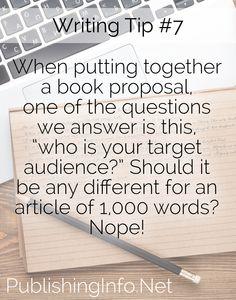 Writing Tip #7 from PublishingInfo.Net