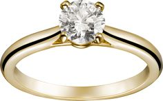 Cartier Yellow Gold Solitaire Ring: http://www.stylemepretty.com/2016/07/13/engagement-ring-wedding-band/