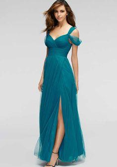 de6f792c1d3d Watters Maids Gladiola 1309 Off the Shoulder Bridesmaid Dress Blue  Bridesmaid Dresses, Aqua Bridesmaids,