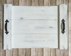 Items similar to Pallet Serving Tray Wooden Serving Tray with Handles Breakfast Tray Rustic Pallet Serving Tray on Etsy