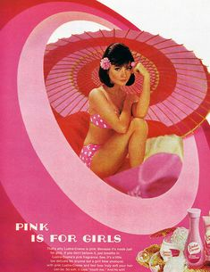 """1969 Magazine Advertisement  """"Pink is for Girls"""""""