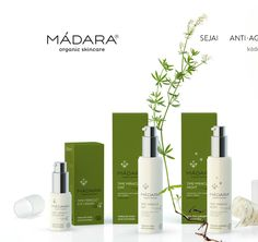 MÁDARA COSMETICS ARE SAFE, NATURAL AND CERTIFIED : MÁDARA are entirely natural and ecological cosmetics certified according to the international ECOCERT standard. It is a volunteer standard that certifies cosmetic products confirming their natural origin. ECOCERT prohibits the use of synthetic perfumes, synthetic preservatives like parabens, mineral oil, propylene glycol and other synthetic ingredients. Madara Cosmetics, Mineral Oil, Packaging, Perfume, Plant, Organic, Natural, Sweet, Products