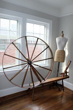 VINTAGE  Spinning Wheel Great Wheel 1800s by beanindustries, $150.00