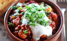 Chili con carne med maisbrød (cornbread) Norwegian Food, Norwegian Recipes, Tex Mex, Wok, Cornbread, Mexican, Meat, Dinner, Drink