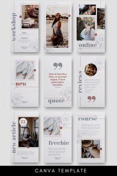 Instagram Design, Instagram Feed Layout, Instagram Story Template, Instagram Story Ideas, Instagram Posts, Instagram Templates, Web Design, Social Media Design, Social Media Template